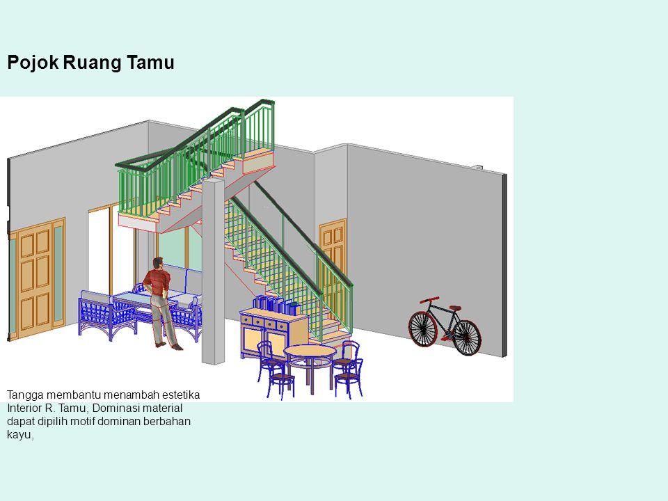 Pojok Ruang Tamu Tangga membantu menambah estetika Interior R.