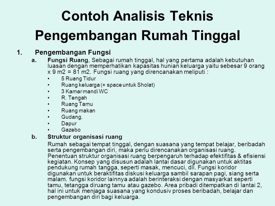 Contoh Analisis Teknis Pengembangan Rumah Tinggal