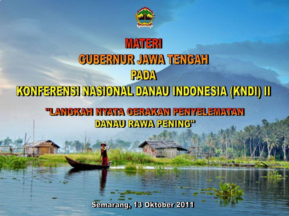 KONFERENSI NASIONAL DANAU INDONESIA (KNDI) II