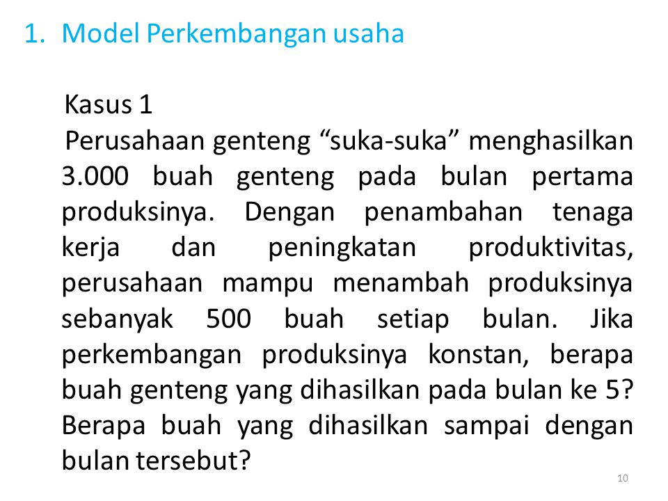Model Perkembangan usaha