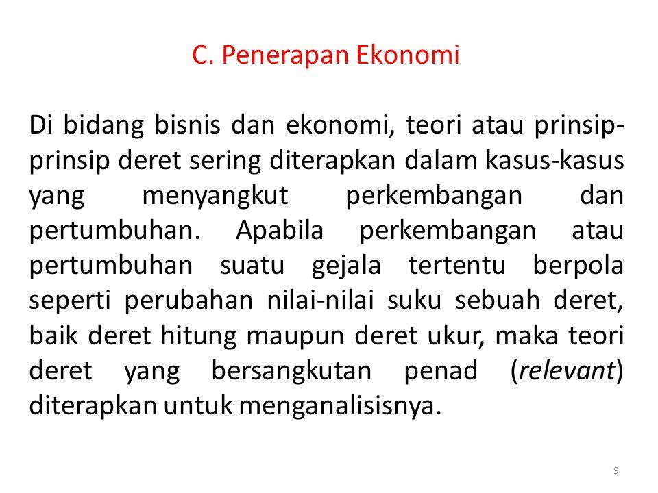 C. Penerapan Ekonomi