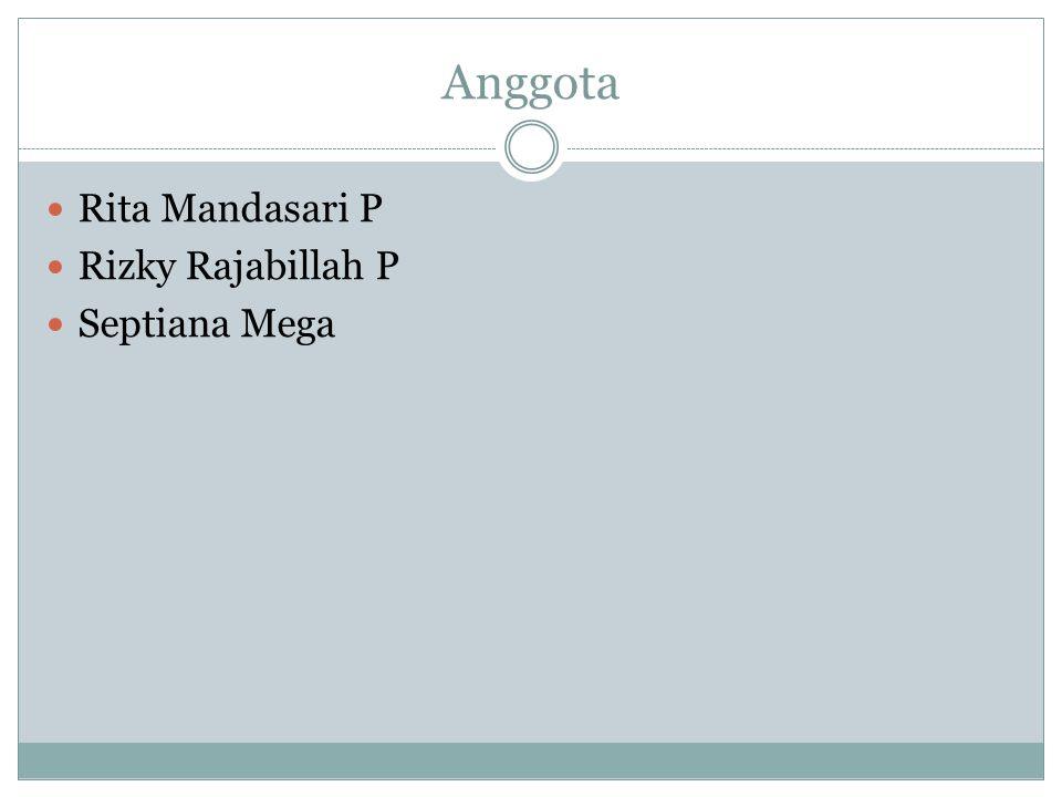 Anggota Rita Mandasari P Rizky Rajabillah P Septiana Mega