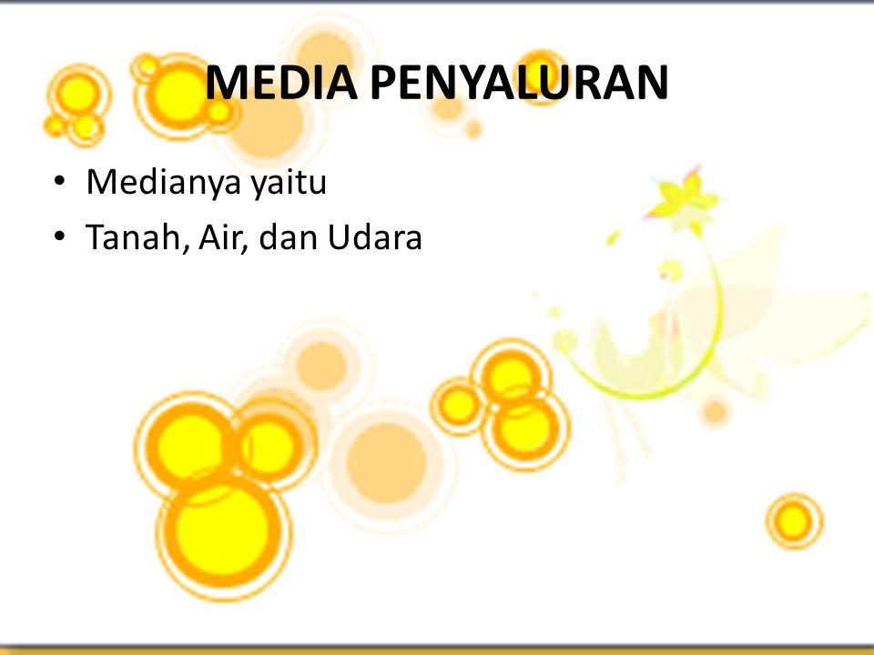 MEDIA PENYALURAN Medianya yaitu Tanah, Air, dan Udara