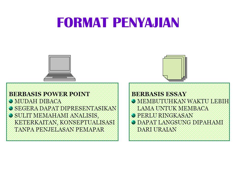 FORMAT PENYAJIAN BERBASIS POWER POINT MUDAH DIBACA