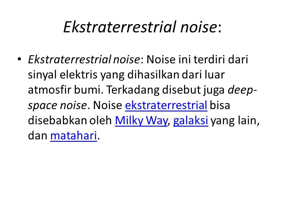 Ekstraterrestrial noise: