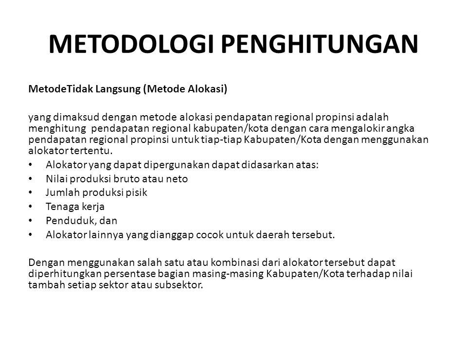 METODOLOGI PENGHITUNGAN