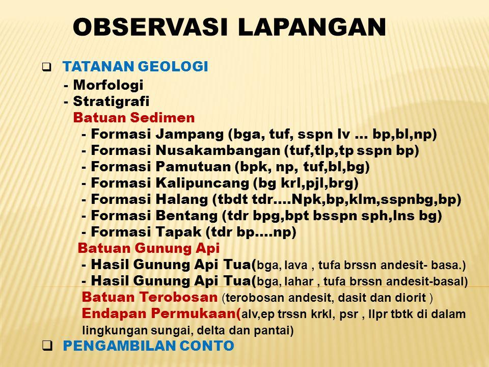 OBSERVASI LAPANGAN - Morfologi - Stratigrafi Batuan Sedimen