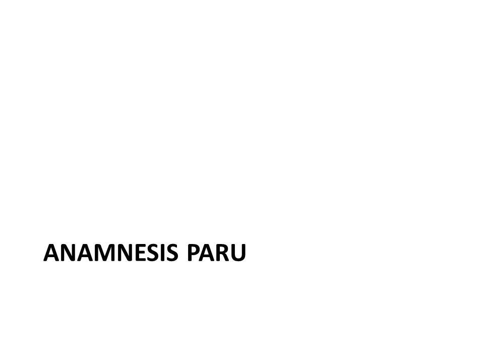 Anamnesis paru