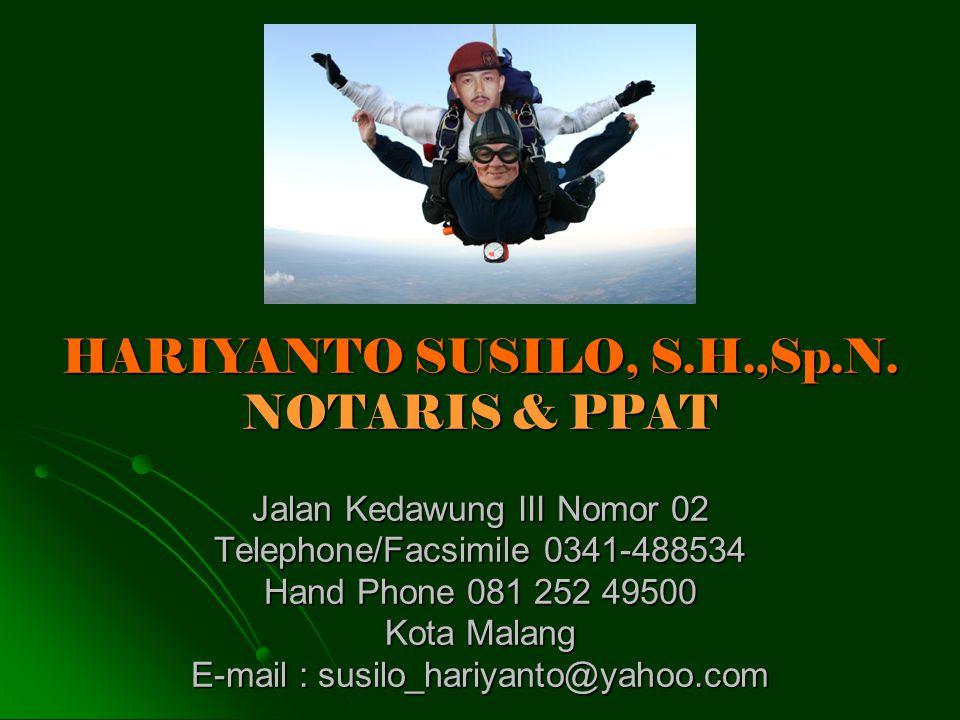 HARIYANTO SUSILO, S. H. ,Sp. N