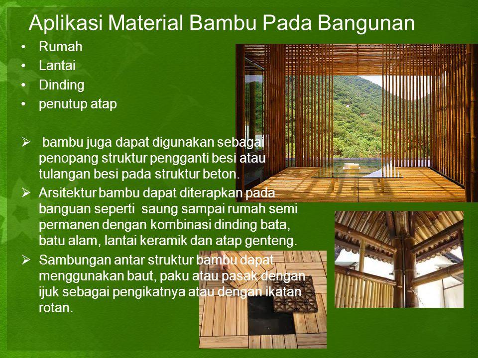 Aplikasi Material Bambu Pada Bangunan