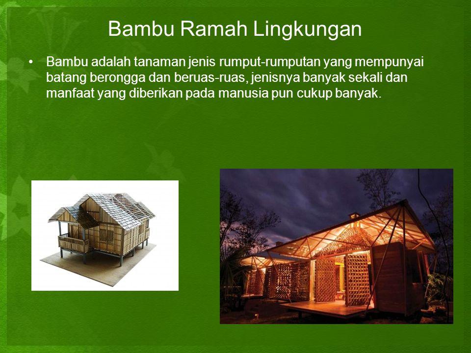 Bambu Ramah Lingkungan