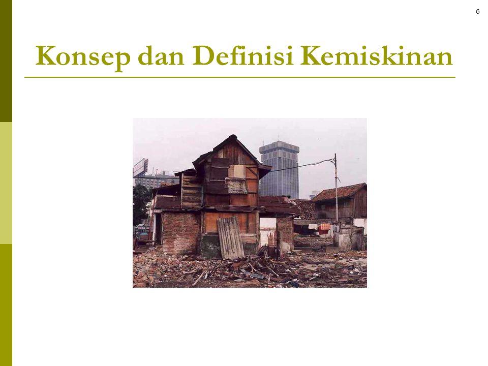 Konsep dan Definisi Kemiskinan