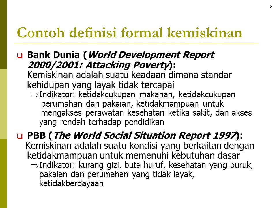 Contoh definisi formal kemiskinan