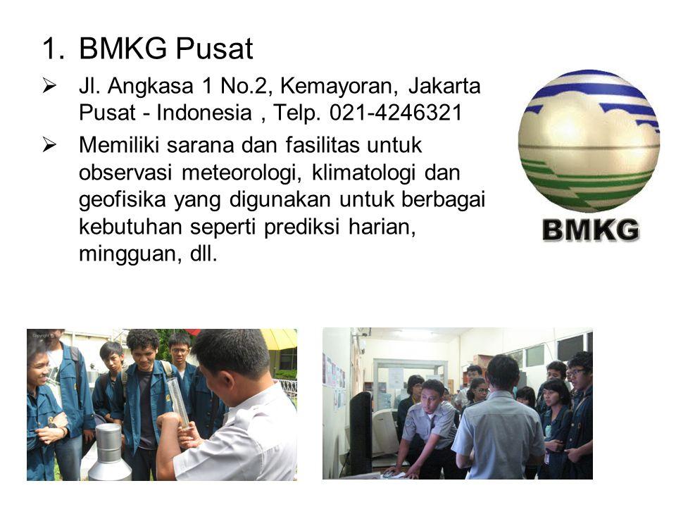 BMKG Pusat Jl. Angkasa 1 No.2, Kemayoran, Jakarta Pusat - Indonesia , Telp. 021-4246321.