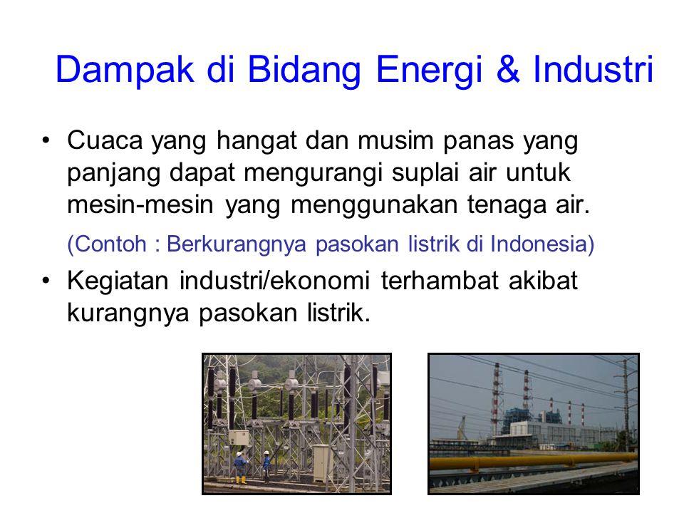 Dampak di Bidang Energi & Industri