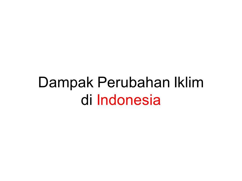 Dampak Perubahan Iklim di Indonesia