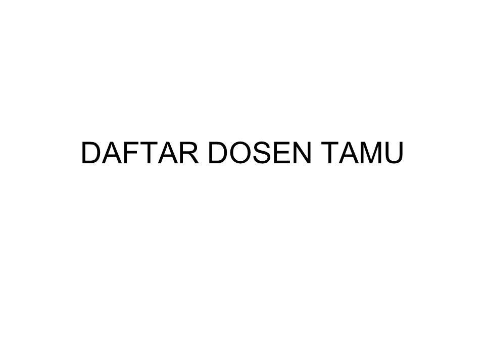 DAFTAR DOSEN TAMU