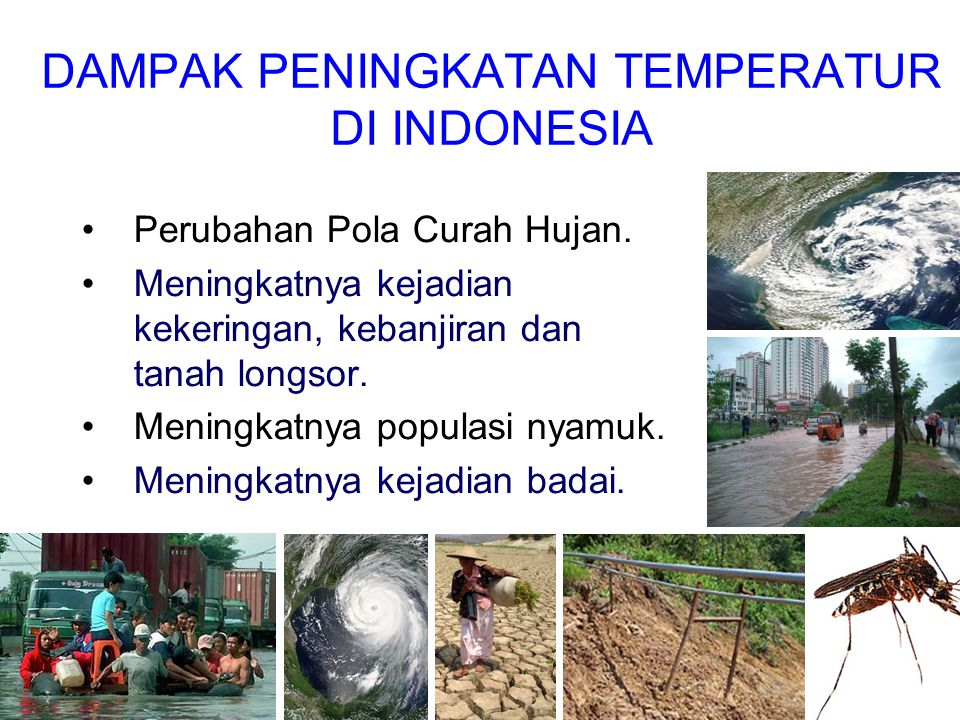 DAMPAK PENINGKATAN TEMPERATUR DI INDONESIA