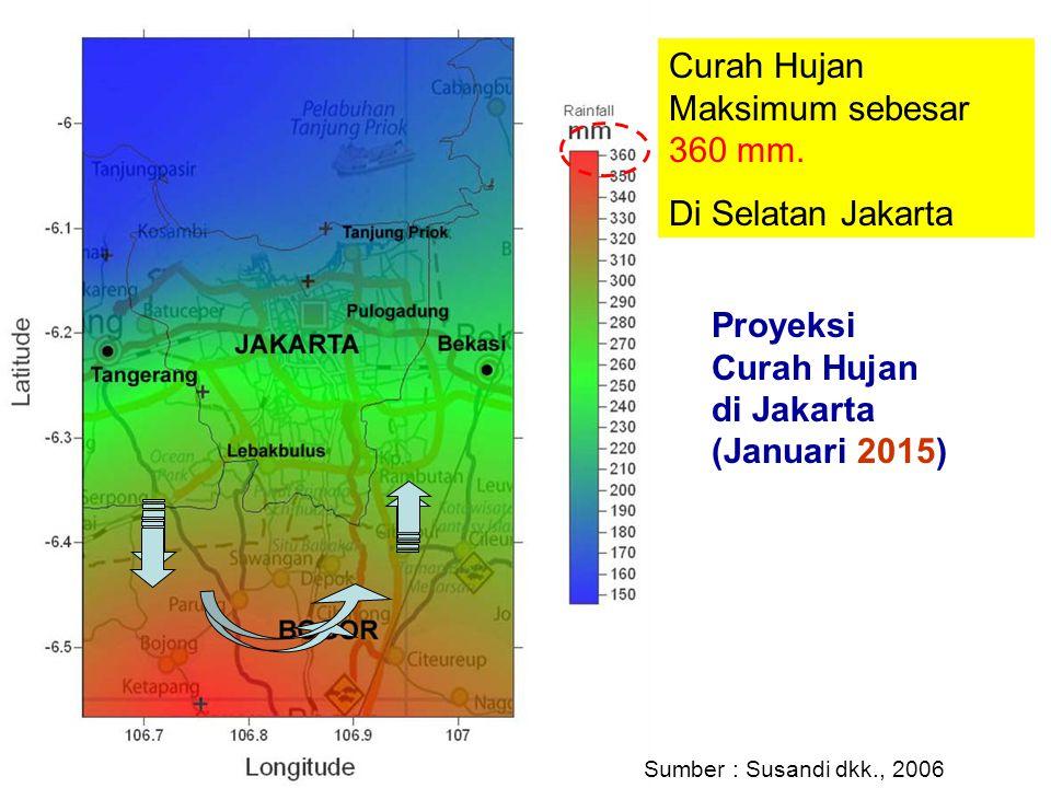 Curah Hujan Maksimum sebesar 360 mm.