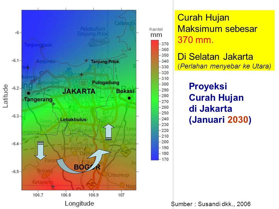 Curah Hujan Maksimum sebesar 370 mm.