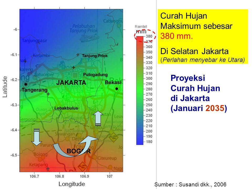 Curah Hujan Maksimum sebesar 380 mm.
