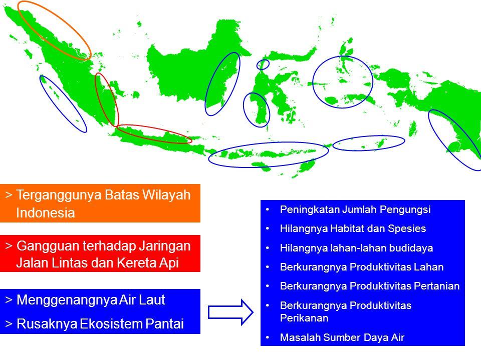 > Terganggunya Batas Wilayah Indonesia