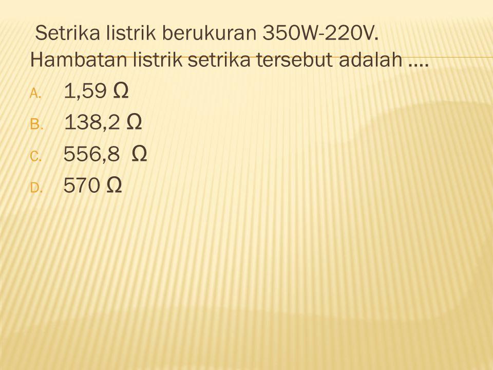Setrika listrik berukuran 350W-220V