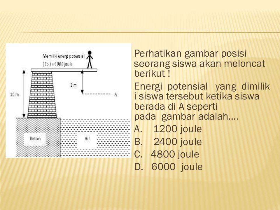 Perhatikan gambar posisi seorang siswa akan meloncat berikut !