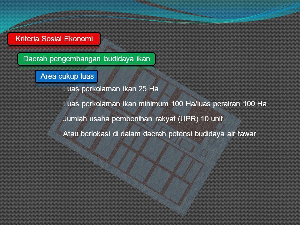 Kriteria Sosial Ekonomi