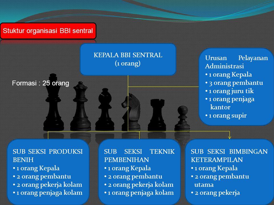 Stuktur organisasi BBI sentral