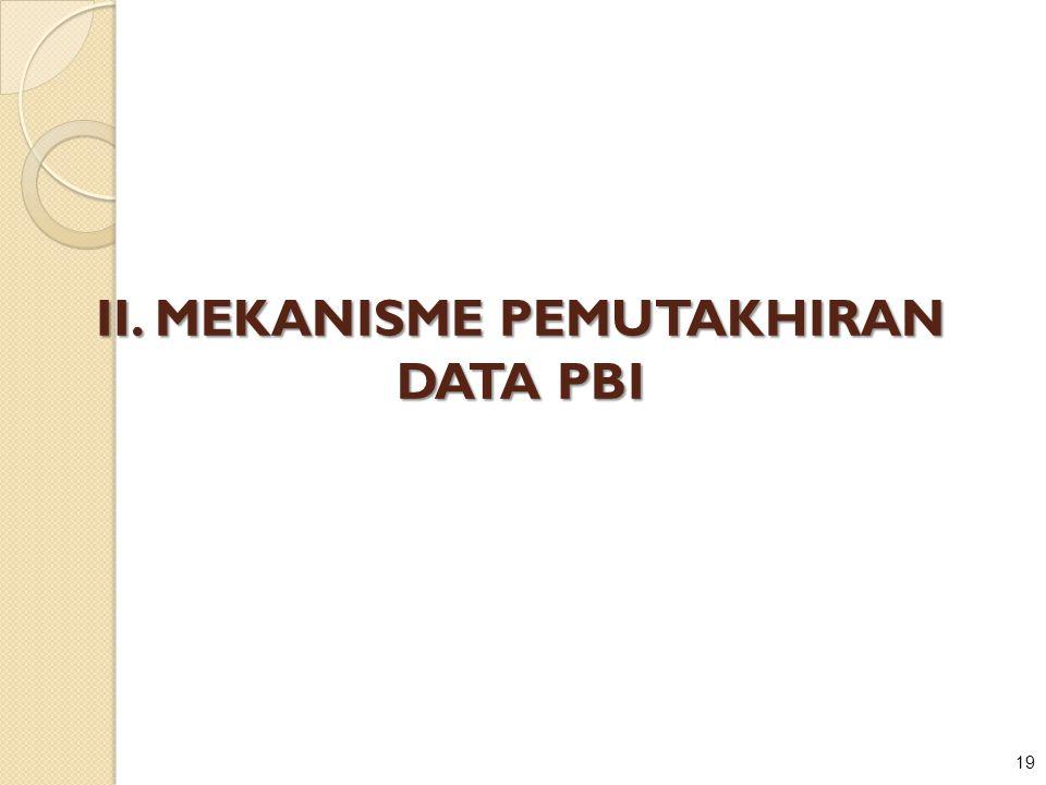II. MEKANISME PEMUTAKHIRAN DATA PBI