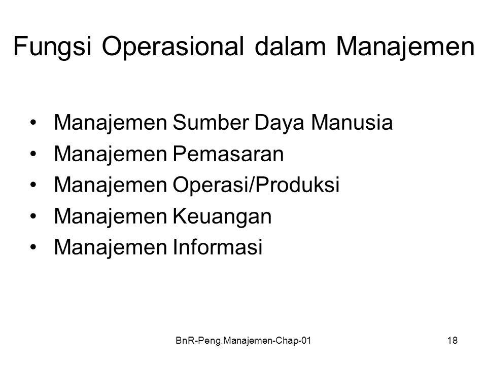 Fungsi Operasional dalam Manajemen