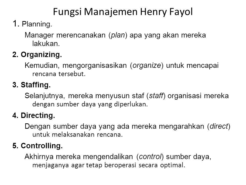 Fungsi Manajemen Henry Fayol