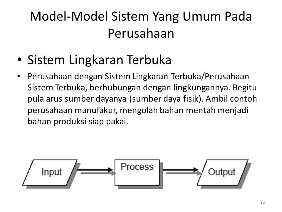 Model-Model Sistem Yang Umum Pada Perusahaan