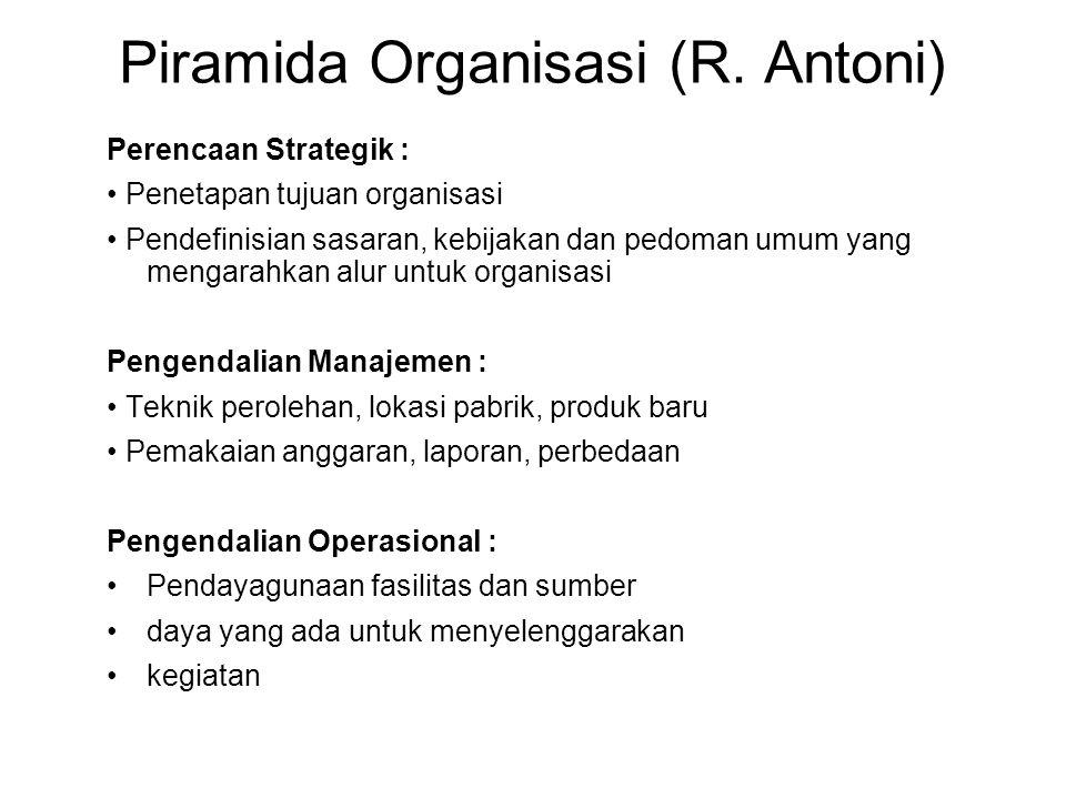 Piramida Organisasi (R. Antoni)