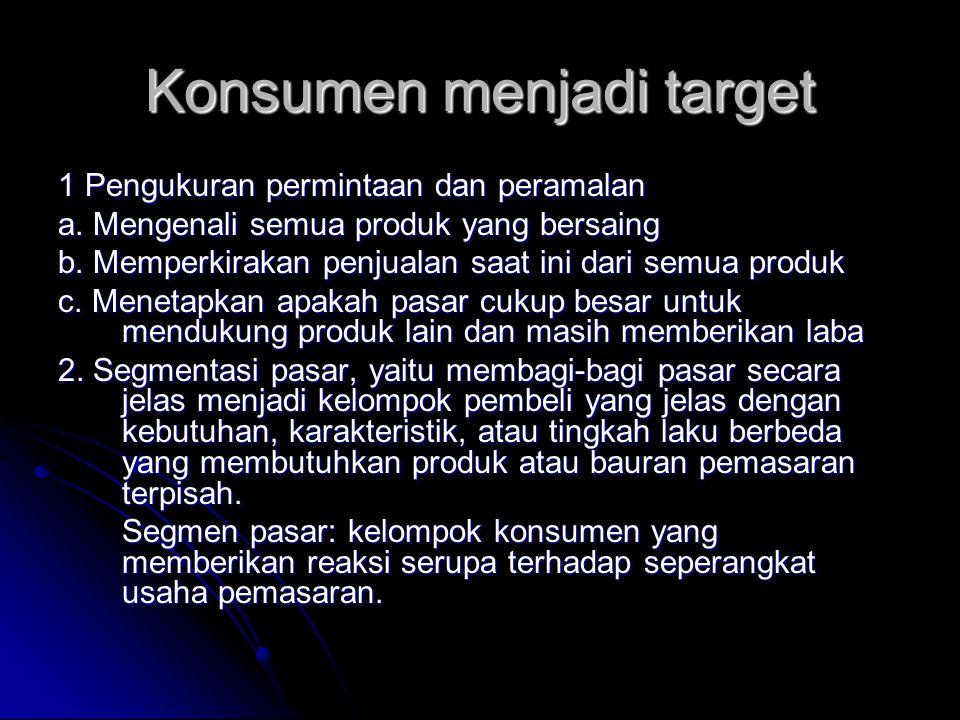 Konsumen menjadi target