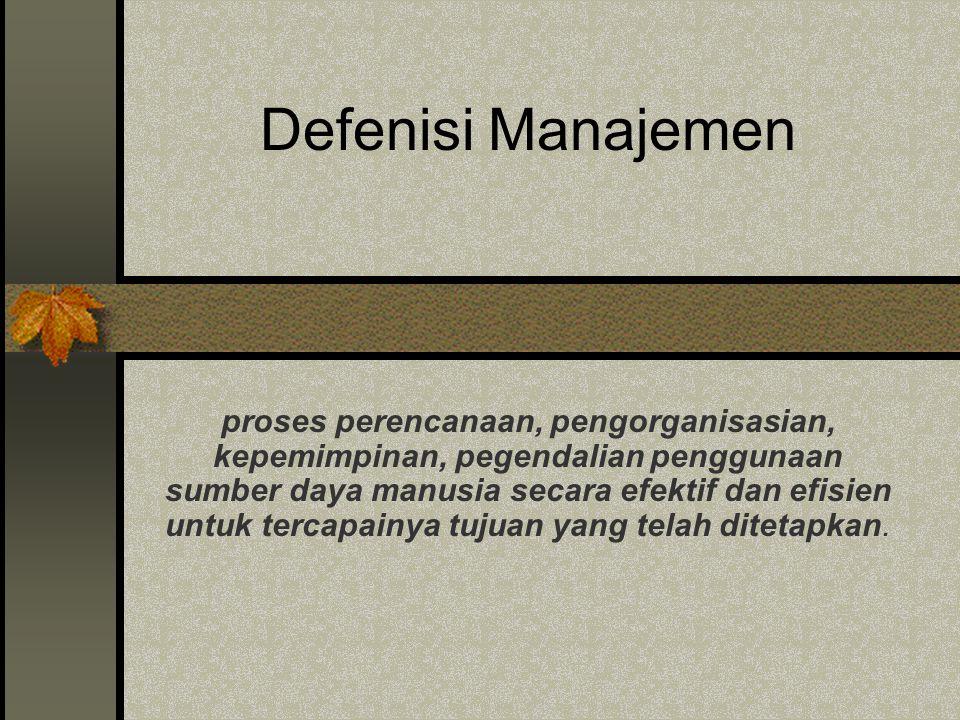 Defenisi Manajemen
