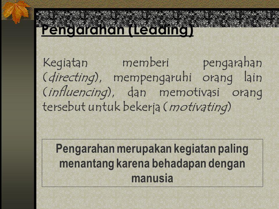 Pengarahan (Leading)