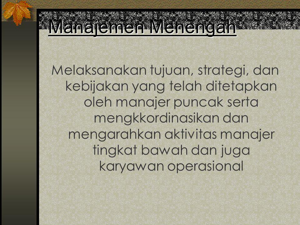 Manajemen Menengah