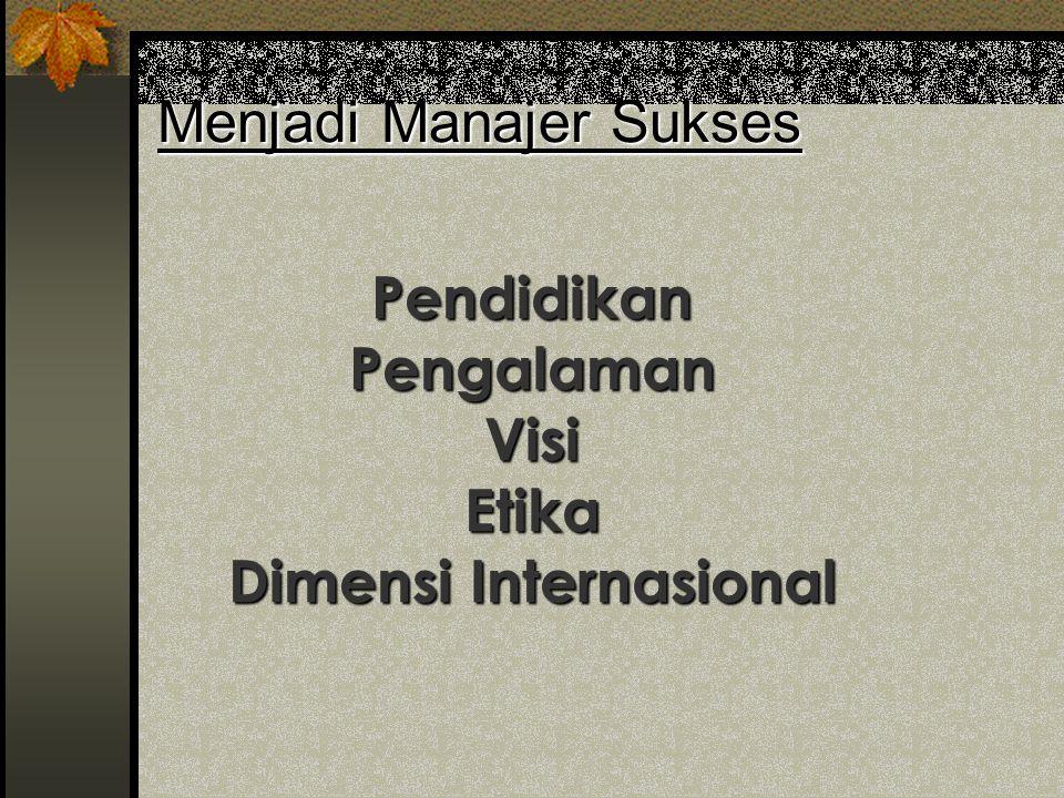 Menjadi Manajer Sukses