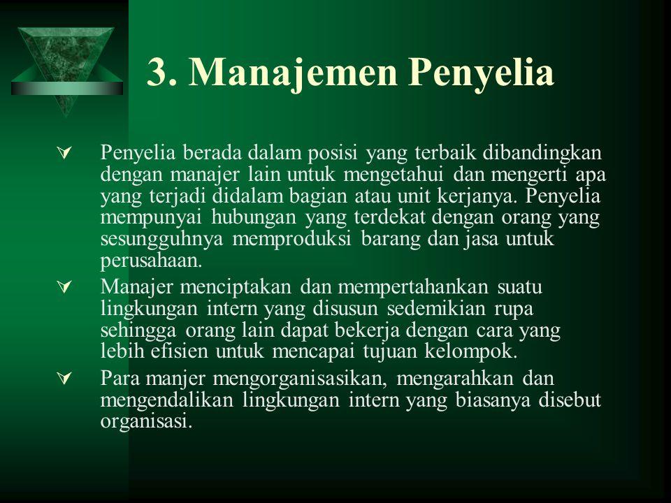 3. Manajemen Penyelia
