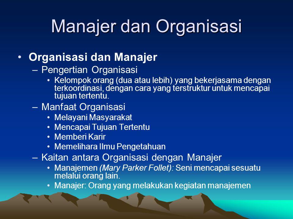 Manajer dan Organisasi
