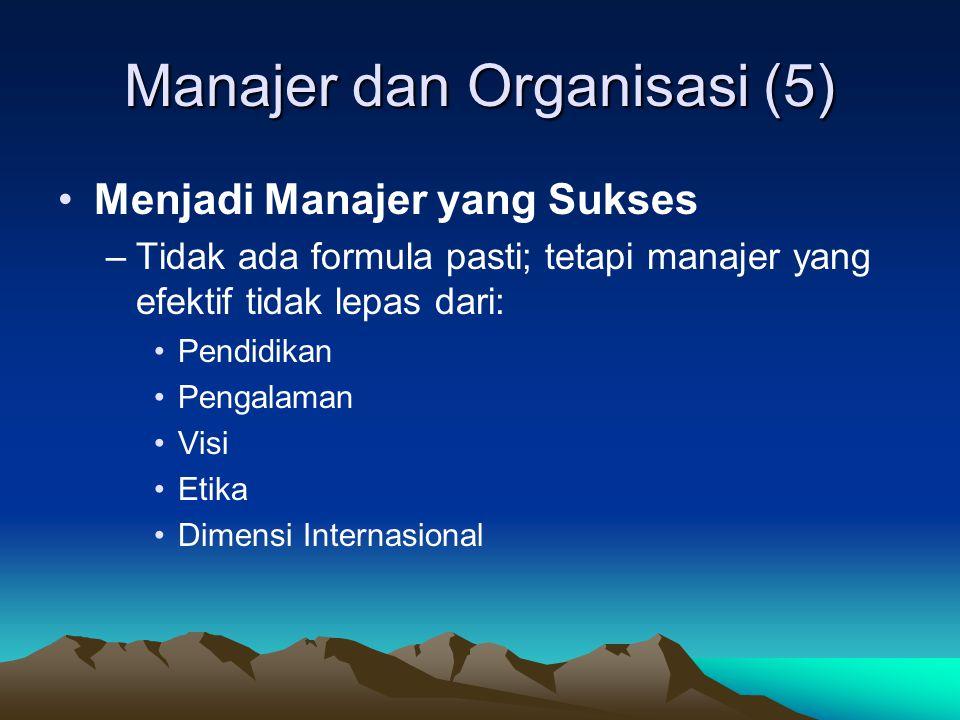 Manajer dan Organisasi (5)