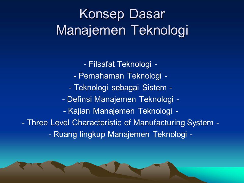 Konsep Dasar Manajemen Teknologi