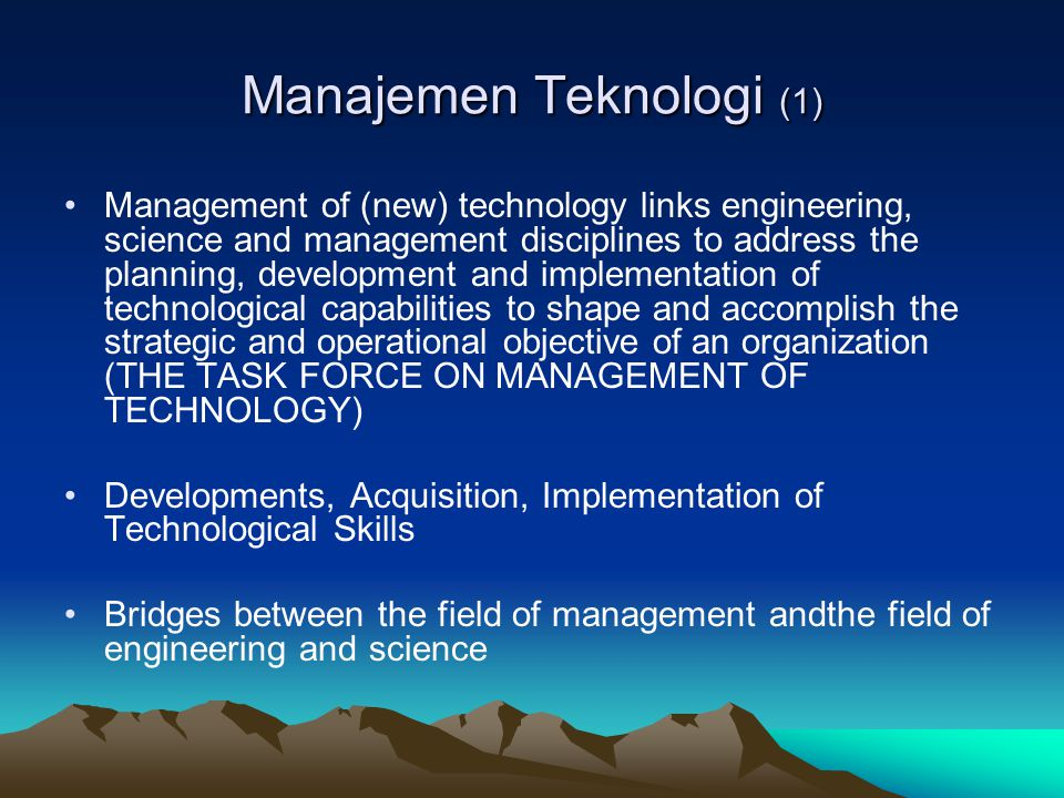 Manajemen Teknologi (1)