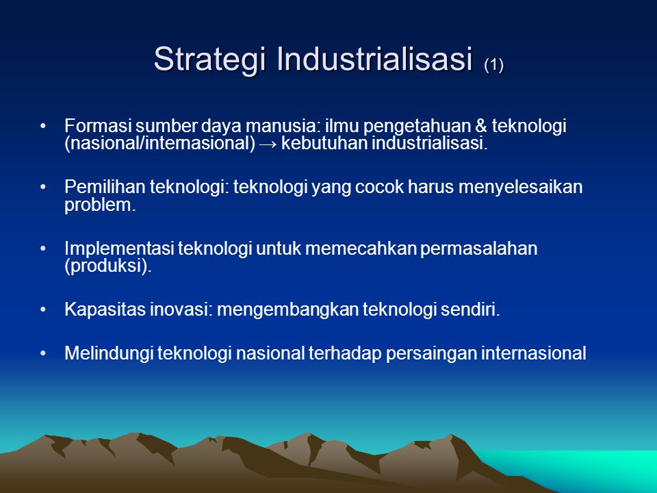Strategi Industrialisasi (1)