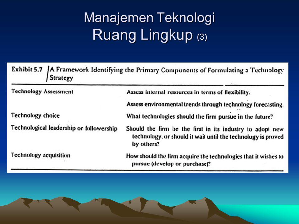 Manajemen Teknologi Ruang Lingkup (3)