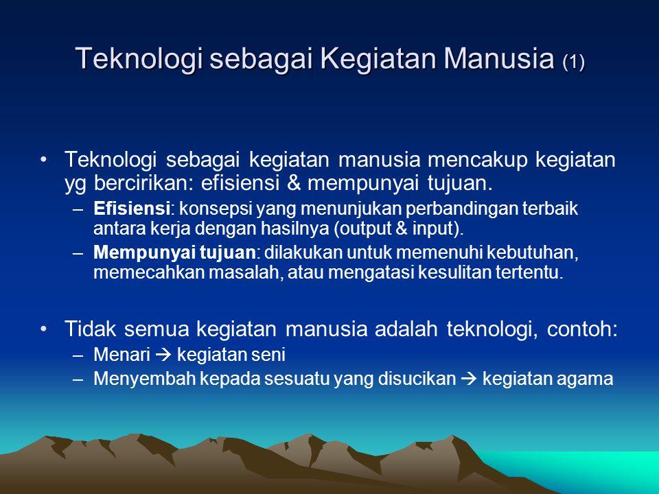 Teknologi sebagai Kegiatan Manusia (1)