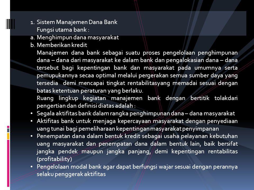 Sistem Manajemen Dana Bank