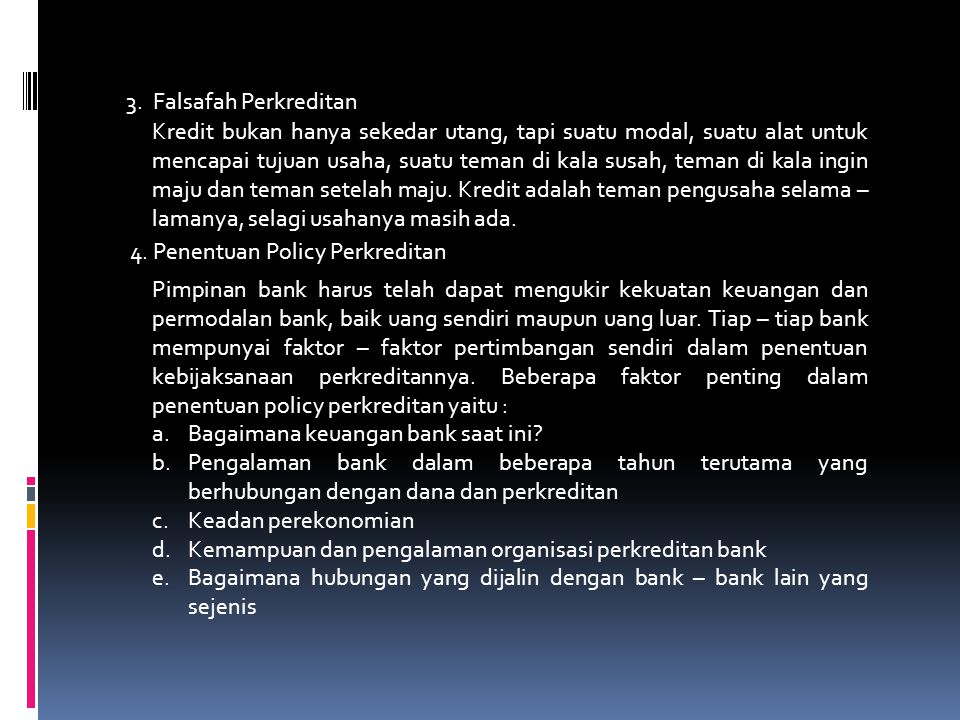 3. Falsafah Perkreditan